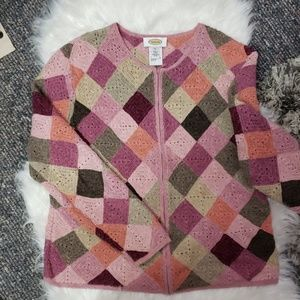 Talbots crocheted sweater
